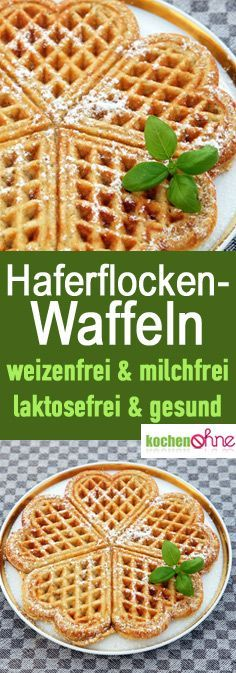 Healthy oat wafers: milk-free, lactose-free, wheat-free - healthy waffles for . - Healthy oat wafers: milk-free, lactose-free, wheat-free – healthy waffles for coffee or as a baby - Lactose Free Diet, Sem Lactose, Feta, Baby Food Recipes, Dinner Recipes, Oatmeal Waffles, Oat Pancakes, Oat Muffins, Healthy Desserts