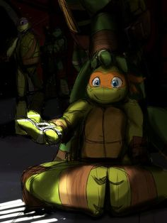 It's sad, because that's the sun they see, and the sun they will never experience yet Ninja Turtles Art, Teenage Mutant Ninja Turtles, Ninja Turtle Toys, Tmnt 2012, Tmnt Human, Tmnt Mikey, Tmnt Comics, Cartoon Crossovers, Fan Art