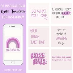 Boss Babe Instagram Quotes | Ready To Post Instagram Quote Posts | Inspirational Quote Posts | Instagram quotes | Motivation Quotes | Instagram Post Templates | Lilac Instagram | Girl Boss Quotes | Entrepreneur Quotes | instagram templates | social media templates | instagram picture ideas | instagram theme layout | instagram template design | #instagramtheme #instagramquotes #purple #white #bossbabeinstagram #readytopostquotes #instagramposts #purpleinstgram #canvatemplates #instaquotes