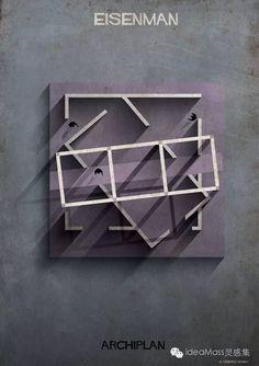 建筑大师们的建筑平面