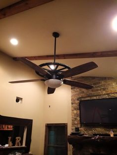 Wagon Wheel Ceiling Fan Different But Very Likeable