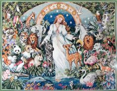 Xstitch-Kit-DIMENSIONS-The-Gold-Collection-Mother-Earth