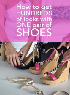 You can create Hundreds (or Thousands) of different designs with One Pair of Shoes by changing the straps.