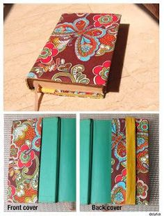Adjustable Fabric Book Cover D.I.Y. - Guest Post by DIYfish