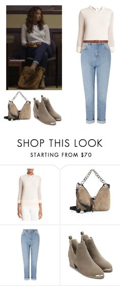 """""""Jessica Davis - 13 reasons why"""" by shadyannon ❤ liked on Polyvore featuring Ted Baker, Jimmy Choo, Miss Selfridge and Dorothy Perkins"""
