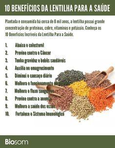 Clique na imagem ao lado e veja 10 benefícios da #lentilha para a #saúde…