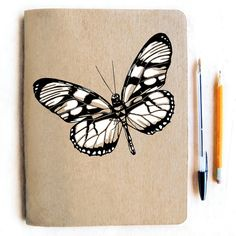 Large Natural Butterfly Journal  Lined Paper by alittlelark, $15.00