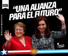 #Chile y #Argentina  #CFK #Cristina #LAPresidenta #LaJefa #Militancia #PatriaGrande #Latinoamérica #AméricaLatina #AméricaLatinayelCaribe #Iberoamérica #Sudamerica #LaPatriaEsElOtro #UnidosyOrganizados #MovimientoNacionalyPopular