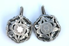 Vintage 1930's Mexican 925 Sterling Silver Etched Open Work Calar Cufflinks | eBay