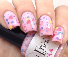 Sweethearts handmade custom nail polish by GlimmerbyErica on Etsy, $9.25