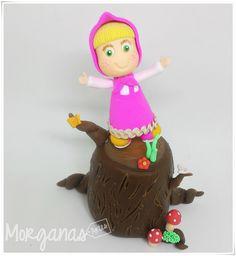 E as peças da Masha e o Urso foram produzidas com todo amor e carinho para a festa da Gabi! Orçamentos: E-mail: andreiamorganas@gmail.com  www.morganas.com.br Whatsapp: (85) 997667885 #mashaeourso #topodebolo #aniversárioinfantil