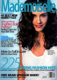 Mademoiselle Magazine ... Blast from the past ... Courteney Cox on March '2000 Cover