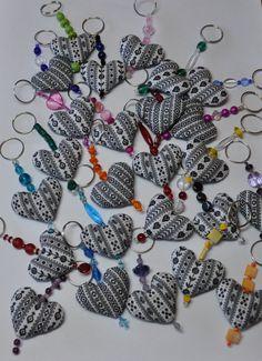 key chains made from Duch fabric (Zeeuws Schortenbont)