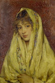 The Athenaeum - Girl in a yellow shawl (Eugene de Blaas - )