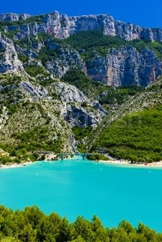 This lake near the Gorges du Verdon is on the Napoleon route through France - it's stunning and really is that colour!