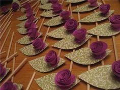 DIY Wedding Details: Paper Flower Escort Cards - Elizabeth Anne Designs: The Wedding Blog