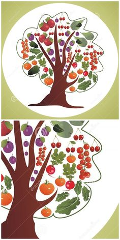 with and (tomato cherry truss tomatoes green pepper radish salad apple pear plum and cherries) on a white circle and green corners background - useful for packaging Radish Salad, Apple Pear, Vegetable Stock, Stuffed Green Peppers, Food Presentation, Fruits And Vegetables, Cherries, Tree Decorations, Vector Art