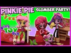 We loved opening the fun My Little Pony Equestria Girls Minis deluxe playset of Pinkie Pie's bedroom! TONS of great accessories including Gummy! My Little Pony Videos, Toy Bins, Pinkie Pie, Slumber Parties, Equestria Girls, Paracord, Mlp, Minis, Bedroom