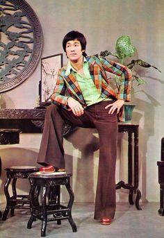 Bruce Lee looking sharp (1970s).