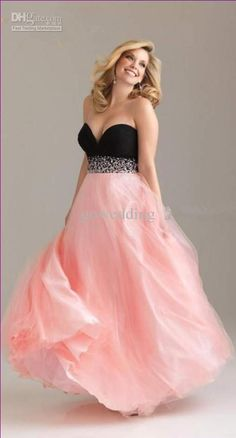 Black Pink Plus Size Sheath Sweetheart Full Length Chiffon Beaded Prom Dresses Evening Formal Gowns Dress S From