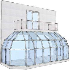 Заказать изготовление алюминиевого зимнего сада, цены на постройку зимних садов