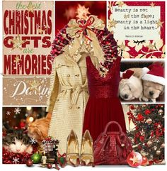 """""""Red & Gold Christmas"""" by allib4sho on Polyvore"""