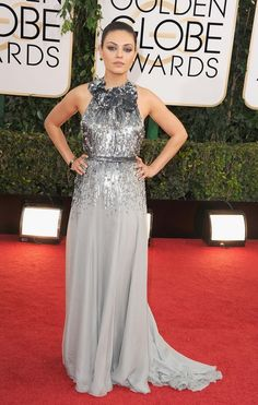"""Jupiter Ascending"" Star Mila Kunis, Golden Globes 2014"