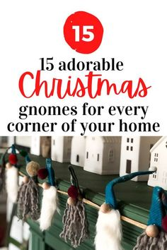 Who doesnt love Christmas gnomes? These 15 easy no sew patterns are quick and cheap to make. Decorate your fireplace mantel with cute gnomes, or make some for your front porch. Here you'll find ideas how to make gnomes from dollar store items and repurposed socks and glass bottles. Christmas Gnome, Christmas Tree Ornaments, Christmas Crafts, Coastal Christmas, Christmas Decorations, Holiday Ideas, Winter Ideas, Winter Holiday, Mason Jar Lids