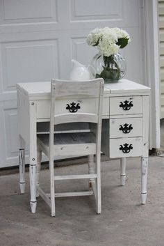 7 Limitless Tips AND Tricks: Shabby Chic Table Dining shabby chic kitchen island. Shabby Chic Grey Bedroom, Shabby Chic Vanity, Shabby Chic Wallpaper, Shabby Chic Chairs, Shabby Chic Wall Decor, Shabby Chic Furniture, Distressed Furniture, White Furniture, Painted Furniture