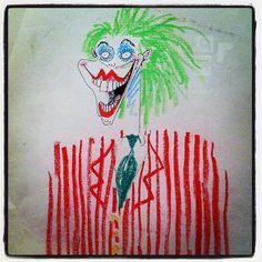 The Joker from Batman - Fraise- - use as a bean bag target for EOY party Bean Bag Target, Batman Drawing, Superhero Room, Room Themes, Tim Burton, Moose Art, Joker, Drawings, School