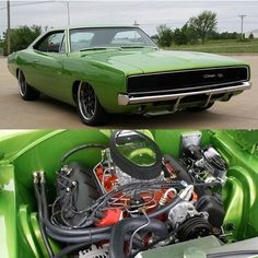 Mean Green 68 Charger with 426 Hemi. __ Via: @classiccarsworld #charger #68…
