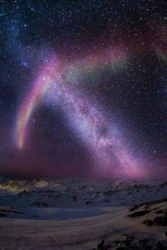 Aurora and the Milky Way, Sisimiut, Greenland