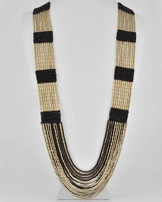 Indian Cobra Beaded Necklace   Black
