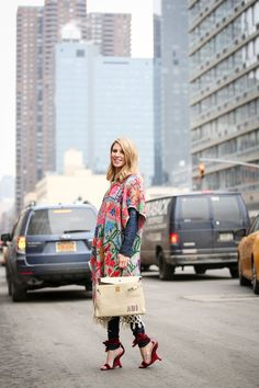Below-Freezing NYC Street Style That's Still Fire #refinery29  http://www.refinery29.com/2015/02/82279/new-york-fashion-week-2015-street-style-pictures#slide-133  A bit of summer flair in the dead of winter....