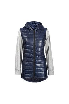 ebe1498800700f Women s Hoodie Zippers Fit Slim Quilted Lightweight Patchwork Winter Long  Sleeve Coat Jacket Blue S