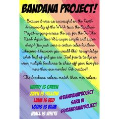 Bandana project for OTRA tour •WORLDWIDE• you may wear them on your wrist because they won't all fit in my hair!! I hope I will see BANDANAS!!!!!!!