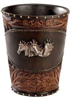༻⚜༺ ❤️ ༻⚜༺ Decorative Three Horse Head Resin Wastebasket   ChickSaddlery.com ༻⚜༺ ❤️ ༻⚜༺