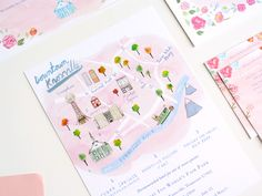 Downtown Knoxville map  illustrated by livi gosling wedding stationery by @jollyedition