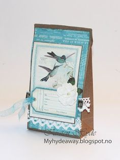 One of 24 Mixed Media Kraft bags for an advent calendar. Created as a DT for Hobbykunst, Papers from Graphic 45. Made by Kirsten Hyde.