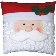 """Santa Pillow Felt Applique Kit-15""""X15"""""""