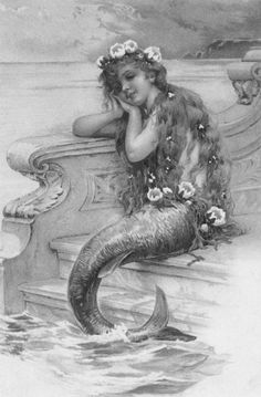 mermaid Cultural Beliefs, Goth Art, Victorian Art, Photoshop Tips, 50 Shades Of Grey, Beauty Art, Video Photography, Vintage Cards, Under The Sea