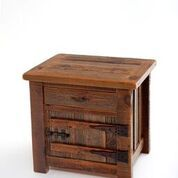 WoodLand Creek Furniture, Barn Wood End Table or Nightstand - Heritage Collection - One Drawer, One Door Steel Furniture, Pallet Furniture, Furniture Plans, Rustic Furniture, Furniture Nyc, Furniture Outlet, Furniture Stores, Cheap Furniture, Office Furniture