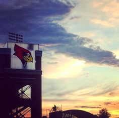 The sun sets on another summer day at Hancock Stadium.