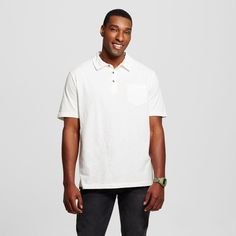 Men's Big & Tall Polo Shirt White 4XBT - Mossimo Supply Co., Size: 4XB Tall