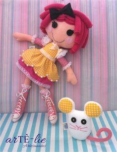 Lalaloopsy Crumbs Sugar Cookie Doll #Lalaloopsy #crumbs #felt #feltro