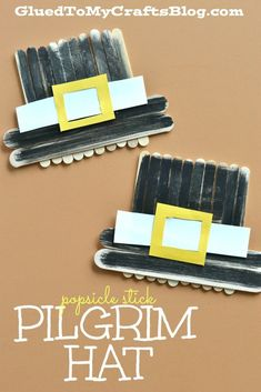 Popsicle Stick Pilgrim Hat - Kid Craft