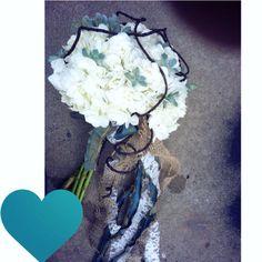 White hydrangea wedding bouquet. succulents. Bridal bouquet.