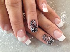 black and white nail art tips - Google Search