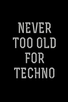 never ..... #techno #music