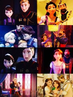 Tangled/Frozen <3 This is so sad because you realize Rapunzel's parents got her back about the same time Elsa and Anna lost their parents.